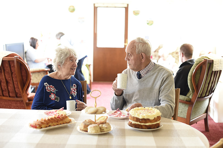 Residents at Afternoon Tea